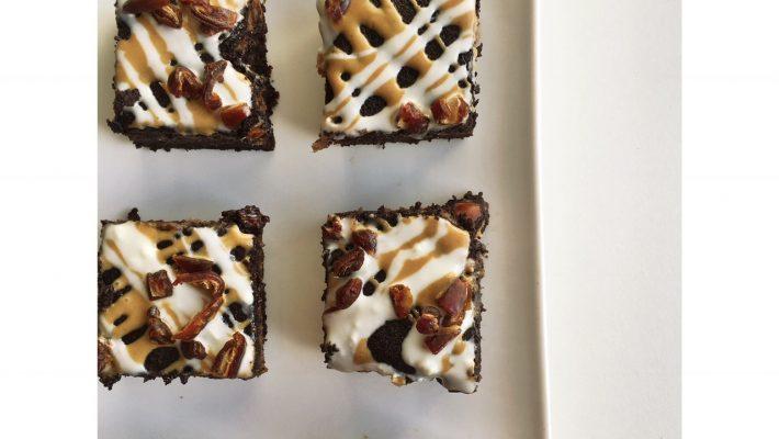 Caramel Layered Chocolate brownies